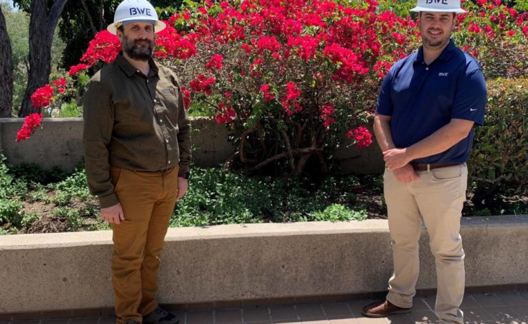 BWE Project Managers get matching hardhats and matching promotions